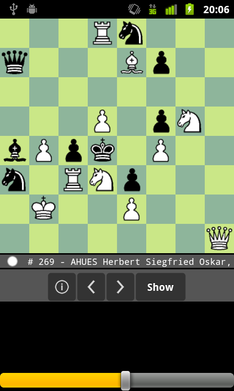 Screenshot of Chess puzzle
